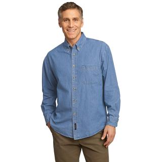 SP10 - SP10 -  Port & Company Long Sleeve Value Denim Shirt